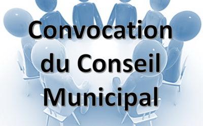 Convocation du Conseil municipal le 15 octobre