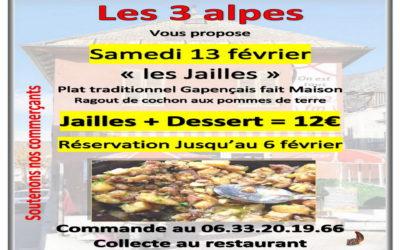 Déguster «les Jailles», plat traditionnel Gapençais