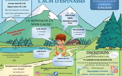 Inscriptions des enfants au Centre de loisirs d'Espinasses pour les vacances de Pâques