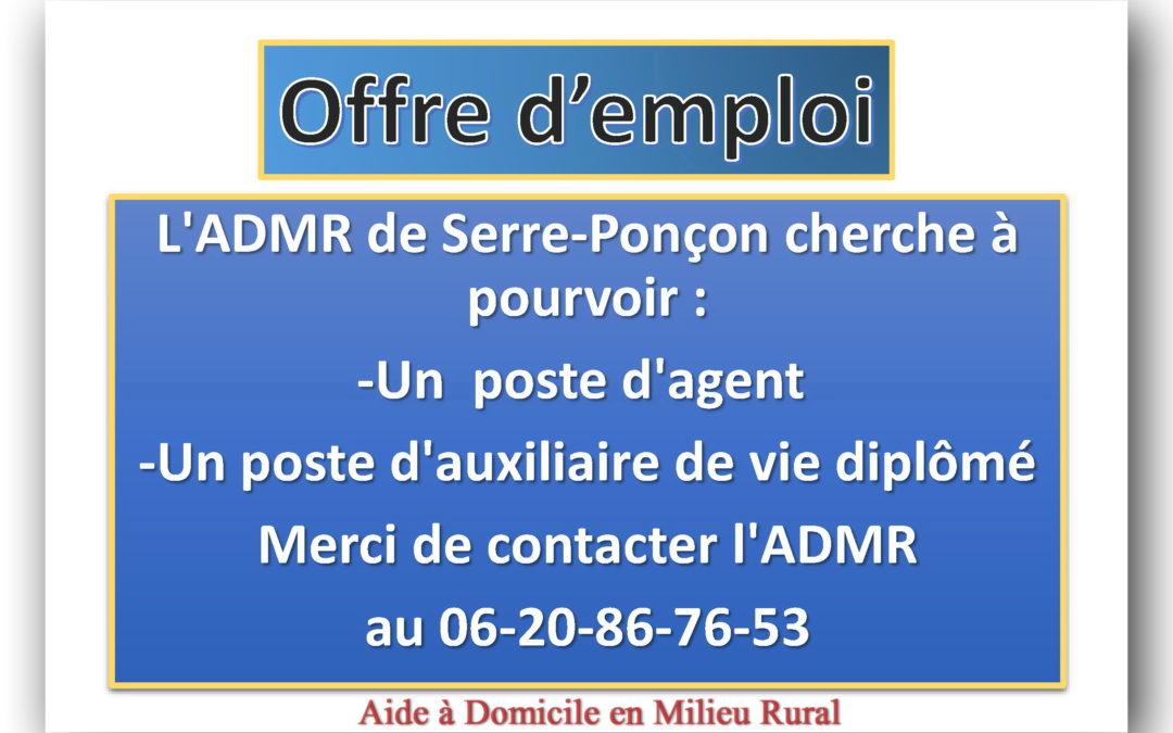 Offre d'emploi ADMR