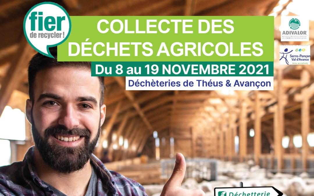 Collecte des déchets agricoles du 8 au 19 novembre 2021